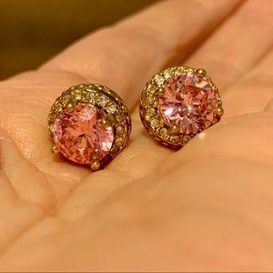 Betsey Johnson Pink Diamond Stud Earrings